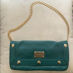 Michael Kors leather turquoise clutch/small purse